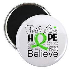 Faith Hope Lymphoma Magnet