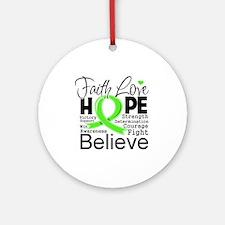 Faith Hope Lymphoma Ornament (Round)