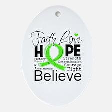 Faith Hope Lymphoma Ornament (Oval)