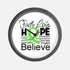 Faith Hope Lymphoma Wall Clock