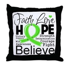 Faith Hope Lymphoma Throw Pillow