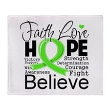 Faith Hope Lymphoma Throw Blanket