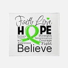 Faith Hope Lymphoma Throw Blanket