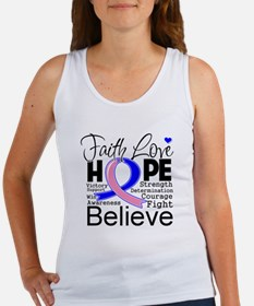 Faith Hope Male Breast Cancer Women's Tank Top