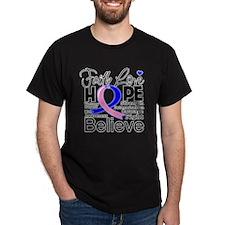 Faith Hope Male Breast Cancer T-Shirt