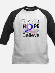 Faith Hope Male Breast Cancer Tee