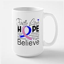 Faith Hope Male Breast Cancer Mug
