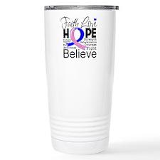 Faith Hope Male Breast Cancer Travel Mug