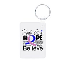 Faith Hope Male Breast Cancer Keychains