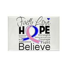 Faith Hope Male Breast Cancer Rectangle Magnet