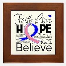 Faith Hope Male Breast Cancer Framed Tile