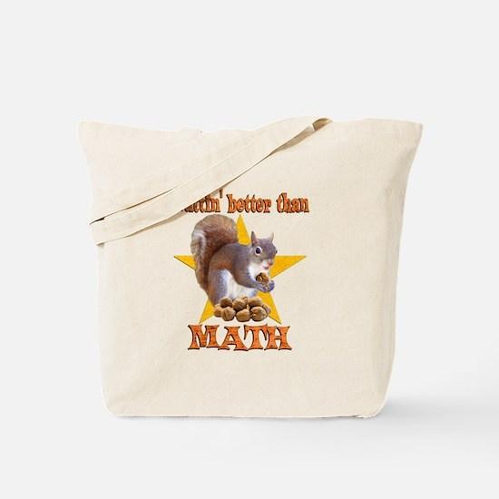 Math Squirrel Tote Bag