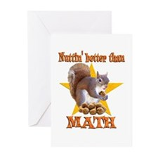 Math Squirrel Greeting Cards (Pk of 20)