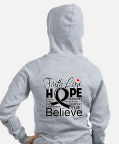 Faith Hope Melanoma Zip Hoodie