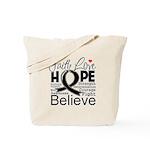 Faith Hope Melanoma Tote Bag