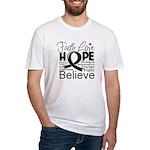 Faith Hope Melanoma Fitted T-Shirt
