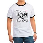 Faith Hope Melanoma Ringer T