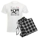 Faith Hope Melanoma Men's Light Pajamas