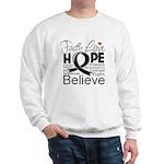Faith Hope Melanoma Sweatshirt