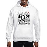 Faith Hope Melanoma Hooded Sweatshirt