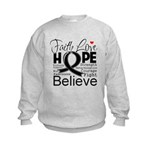 Faith Hope Melanoma Kids Sweatshirt