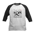 Faith Hope Melanoma Kids Baseball Jersey