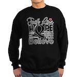 Faith Hope Melanoma Sweatshirt (dark)