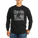 Faith Hope Melanoma Long Sleeve Dark T-Shirt