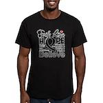 Faith Hope Melanoma Men's Fitted T-Shirt (dark)