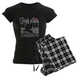 Faith Hope Melanoma Women's Dark Pajamas