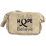 Faith Hope Melanoma Messenger Bag