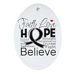 Faith Hope Melanoma Ornament (Oval)