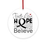 Faith Hope Melanoma Ornament (Round)