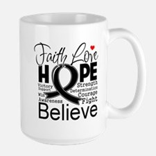 Faith Hope Melanoma Mug