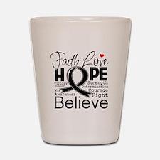 Faith Hope Melanoma Shot Glass