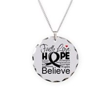 Faith Hope Melanoma Necklace