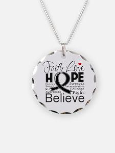 Faith Hope Melanoma Necklace