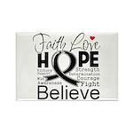 Faith Hope Melanoma Rectangle Magnet
