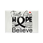 Faith Hope Melanoma Rectangle Magnet (100 pack)