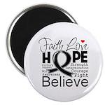 Faith Hope Melanoma Magnet