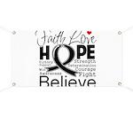 Faith Hope Melanoma Banner