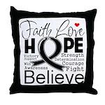 Faith Hope Melanoma Throw Pillow