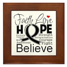 Faith Hope Melanoma Framed Tile