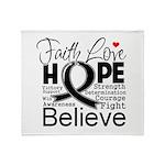 Faith Hope Melanoma Throw Blanket