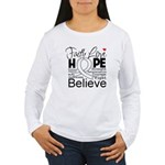 Faith Hope Mesothelioma Women's Long Sleeve T-Shir