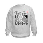 Faith Hope Mesothelioma Kids Sweatshirt