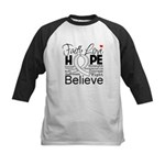 Faith Hope Mesothelioma Kids Baseball Jersey