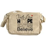 Faith Hope Mesothelioma Messenger Bag