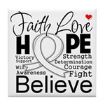 Faith Hope Mesothelioma Tile Coaster