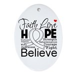 Faith Hope Mesothelioma Ornament (Oval)